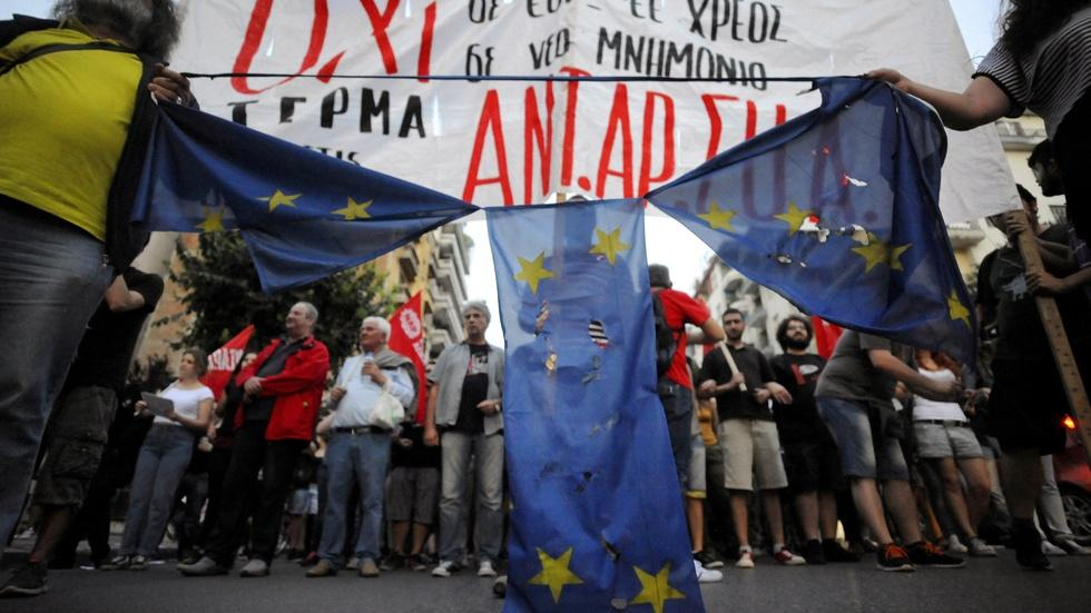 Greek PM urges defiance after creditors reject late offer image