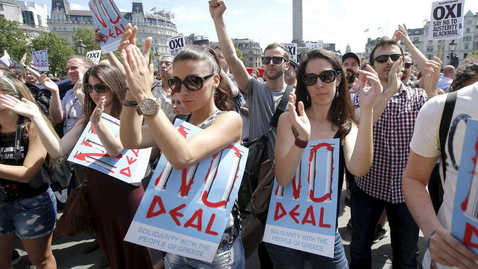 How is Greece likely to vote in austerity referendum? image