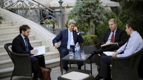 PBS NewsHour -- Iran arms embargo is conflict as nuclear talks push on