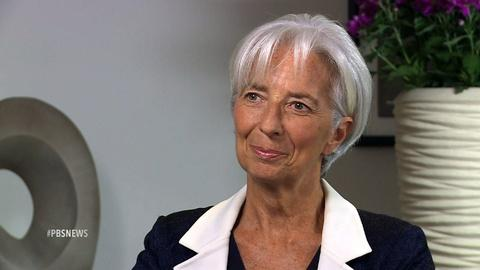PBS NewsHour -- IMF chief: Europe must do much more to reduce Greek debt