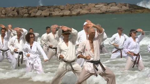 PBS NewsHour -- Can an all-star karate class bridge the Arab-Israeli divide?
