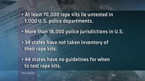 PBS NewsHour -- Report: At least 70k rape kits untested in U.S. police depts