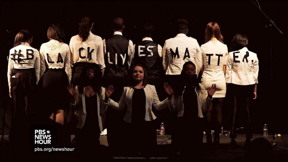Teens sing in support of Black Lives Matter image