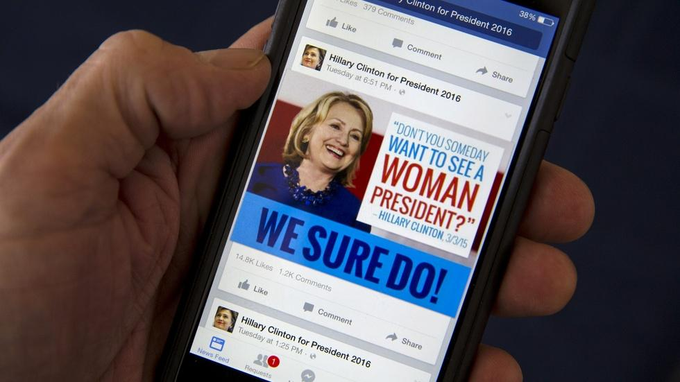 Are presidential candidates tracking your Facebook profile? image