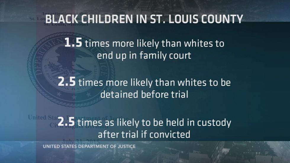 DOJ: St. Louis court discriminates against black children image