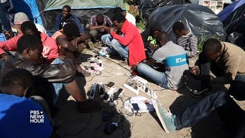 PBS NewsHour -- Seeking refuge in UK, migrants get stuck in Calais