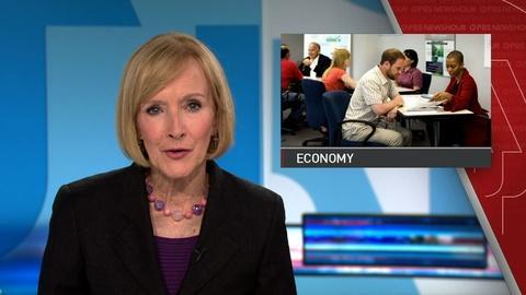 PBS NewsHour -- News Wrap: U.S. economy adds 215,000 jobs