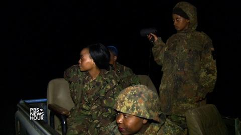 PBS NewsHour -- All-women team goes on the hunt for poachers in South Africa