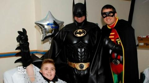 PBS NewsHour -- Remembering an ordinary superhero in the lives of sick kids
