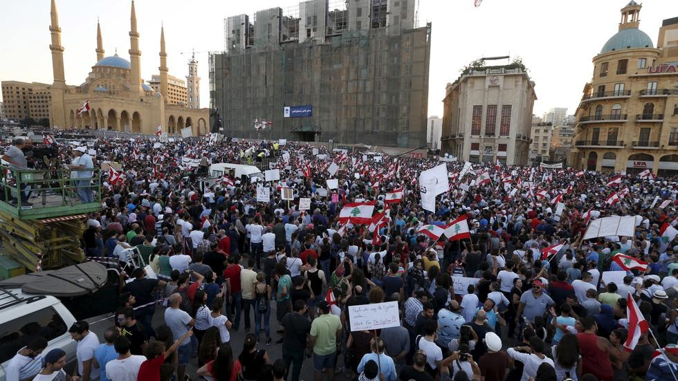 Thousands take to Beirut streets to protest government image