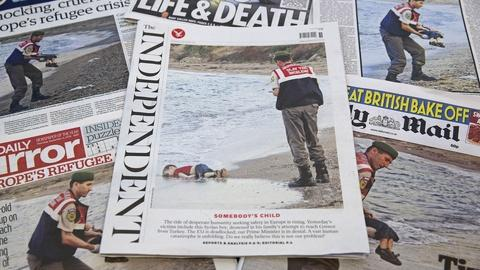 PBS NewsHour -- Will a photo of a drowned boy give Europe a political push?