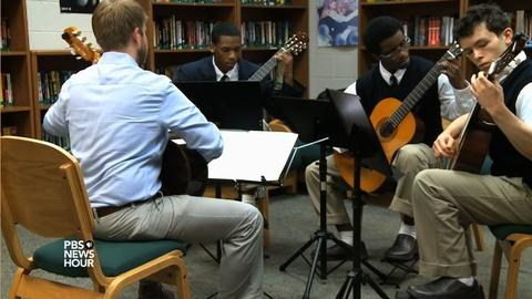 PBS NewsHour -- Classical guitar helps kids in trouble change their tune