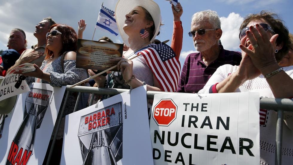 Republican presidential rivals unite to protest Iran deal image