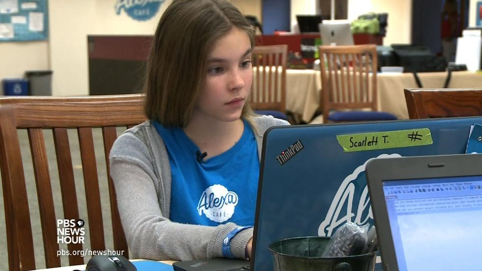 Teaching girls to write the rules at video game coding camp image