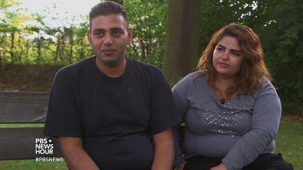 What happened for two Syrian families who made it to Germany image