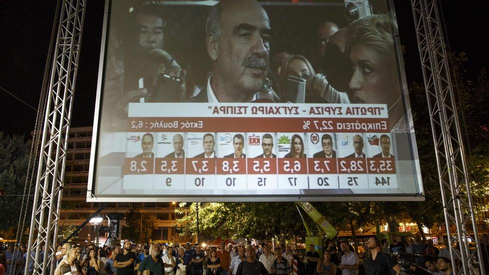 Polls close in Greece election, but more instability likely image