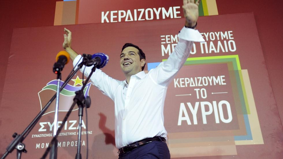 Greek election gamble pays off for Tsipras image