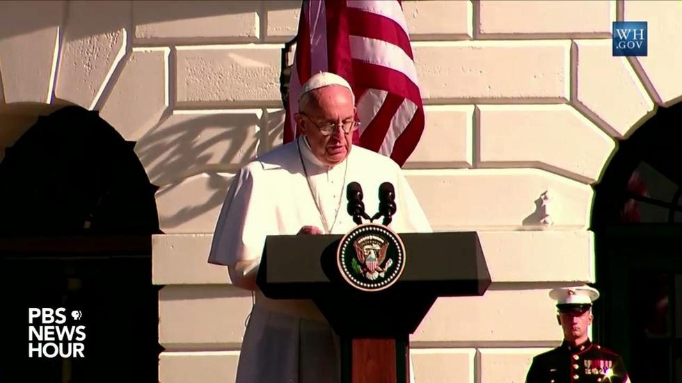 """Pope: Climate change can't """"be left to a future generation' image"""