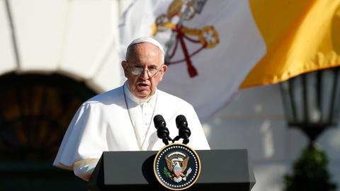 PBS NewsHour -- Pope Francis draws big crowds and high spirits in Washington