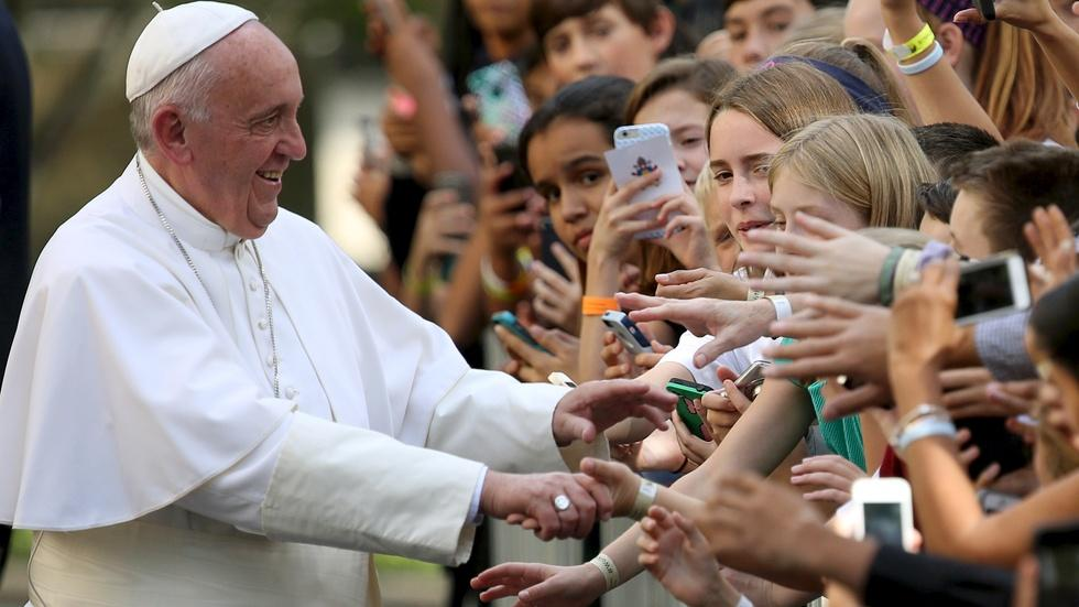 Affirming American values, Pope Francis urges empathy image