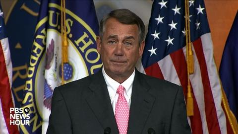 PBS NewsHour -- Watch John Boehner's full statement on his resignation