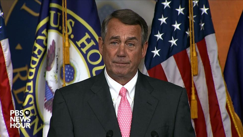 Watch John Boehner's full statement on his resignation image