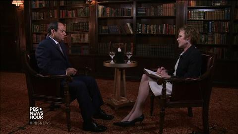 PBS NewsHour -- Egypt's president on fighting Islamic State, U.S. relations