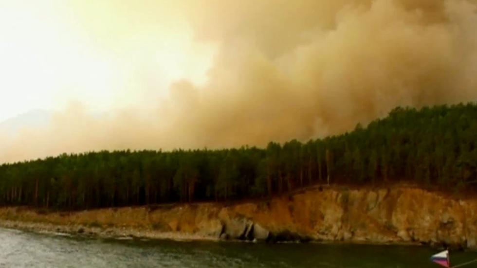 Wildfires in Russia scorch world's largest freshwater lake image