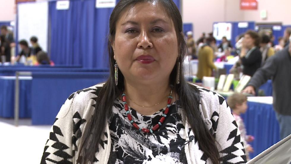 Poet Lisa Yankton reads 'Ma-Ka-To' image