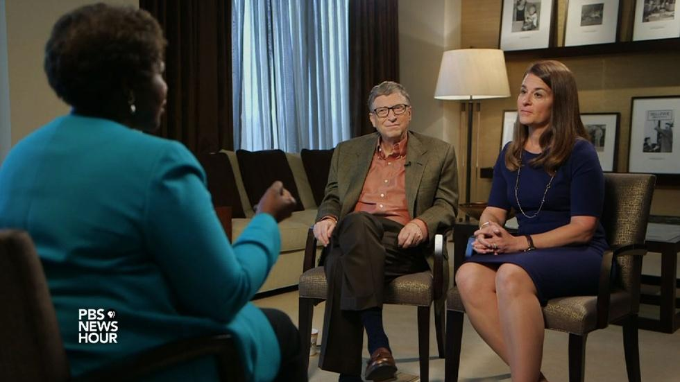 Bill and Melinda Gates on political debate over Common Core image
