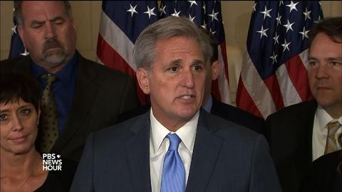 PBS NewsHour -- McCarthy: To unite GOP, House needs 'a new face'