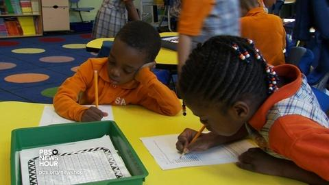 PBS NewsHour -- Is kindergarten too young to suspend a student?
