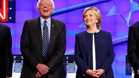 PBS NewsHour -- Clinton and Sanders dominate policy-deep Democratic debate