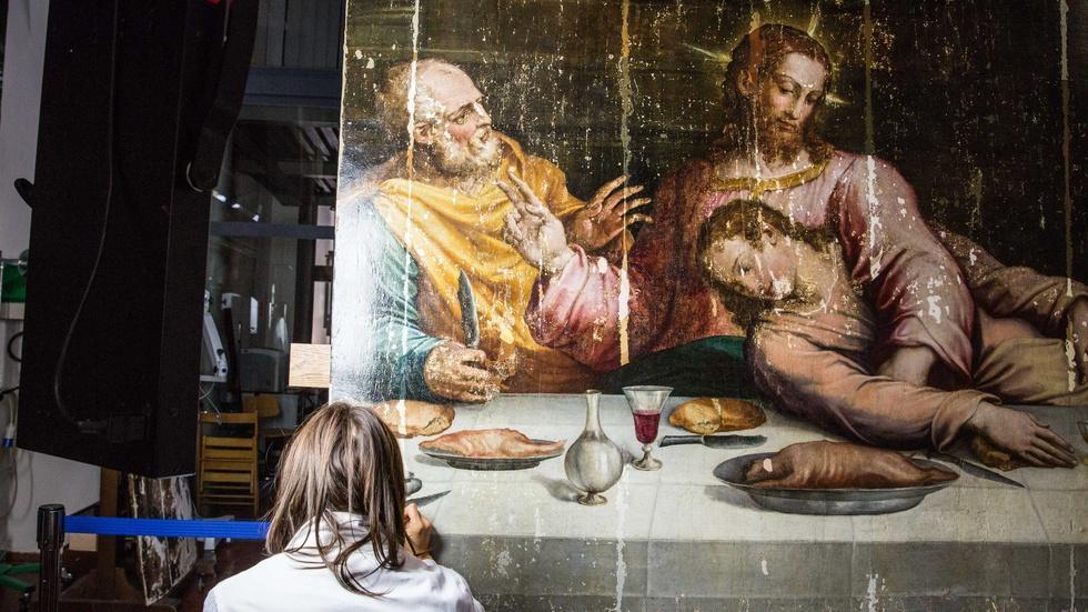 The art hospital restoring the world's damaged treasures image
