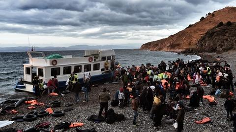 PBS NewsHour -- Deadly tide of migrant trafficking crashes on Greek shores