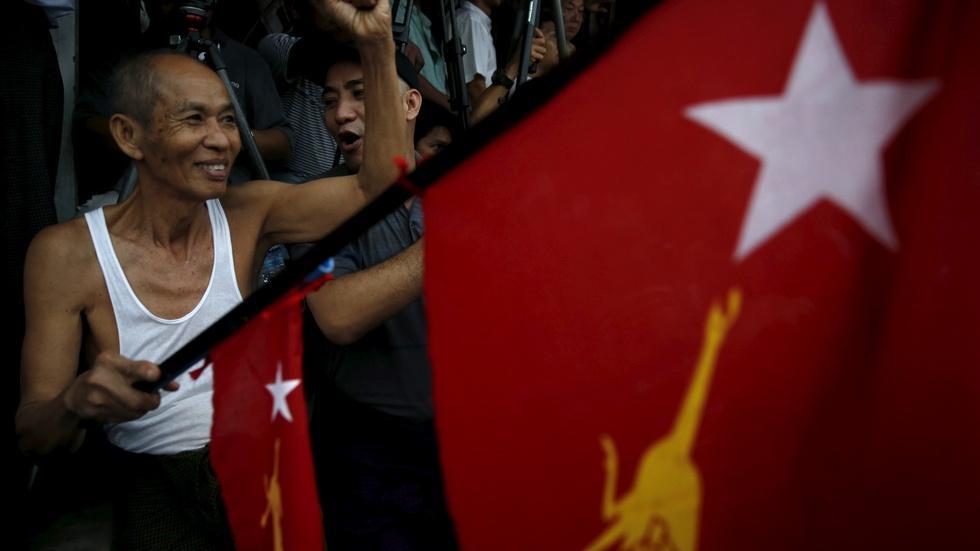 Millions vote in Myanmar's historic election image