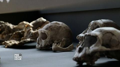 PBS NewsHour -- At an ancient boneyard, a bridge to early global wanderers