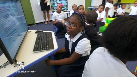 PBS NewsHour -- An innovator who says kids can learn anything on their own