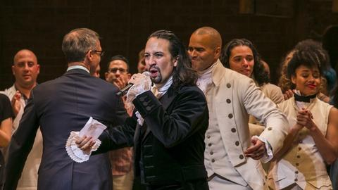 PBS NewsHour -- Hip-hop and history blend for Broadway hit 'Hamilton'