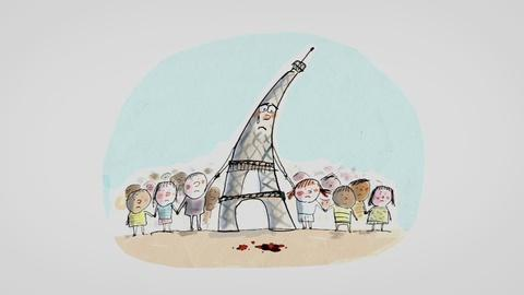 PBS NewsHour -- French couple helps children process attacks with cartoons