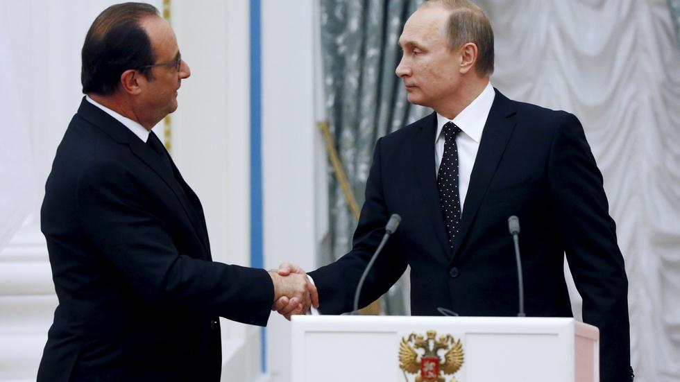 France, Russia unify to fight Islamic State image