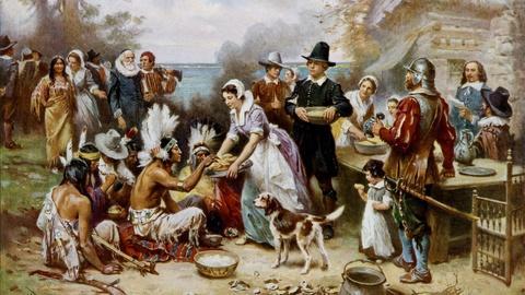 PBS NewsHour -- Were pilgrims America's original economic migrants?