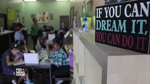 PBS NewsHour -- Steering young people away from a life mixed up with gangs