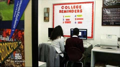 PBS NewsHour -- Demystifying college for first-generation applicants