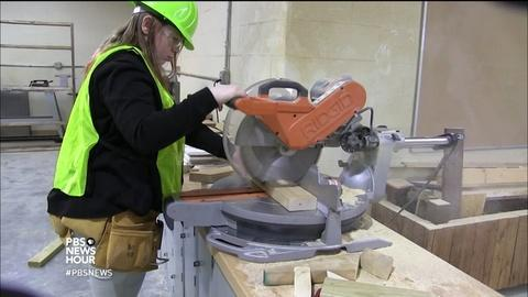 PBS NewsHour -- Girls build their future in construction class