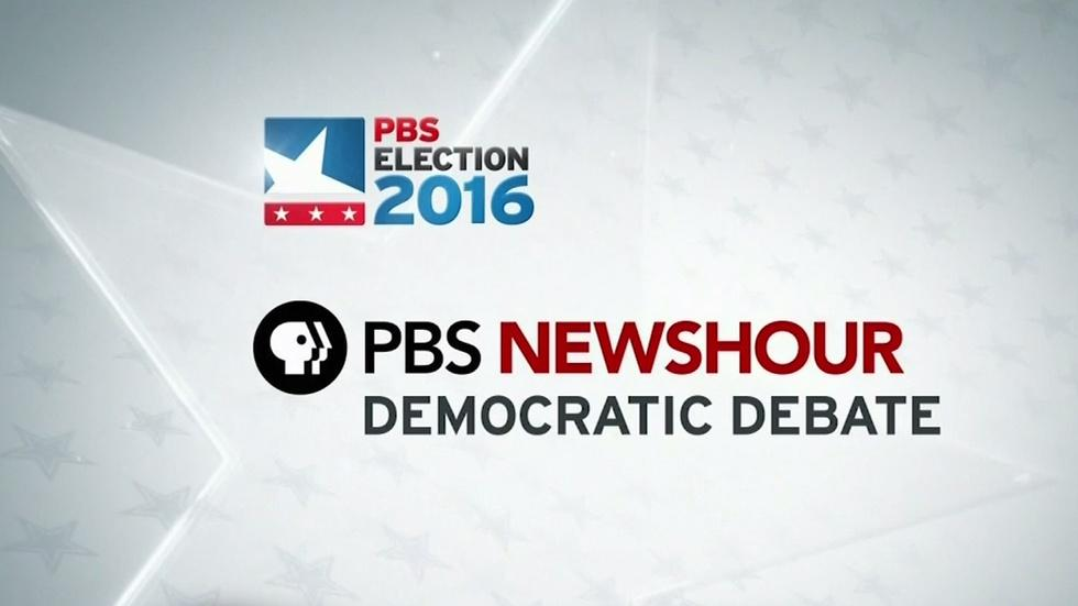 PBS NewsHour Democratic Presidential Debate image