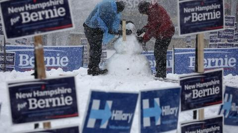 PBS NewsHour -- Democratic fight heats up as candidates dash across N.H.