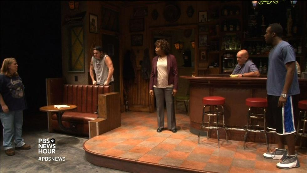 Steelworkers' stories come to life onstage in 'Sweat' image