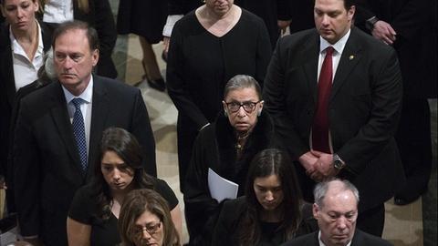 PBS NewsHour -- Supreme Court pays tribute to Antonin Scalia
