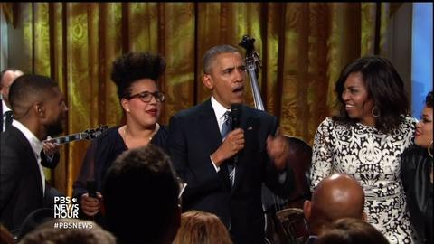 PBS NewsHour -- Rocking out to Ray at the White House